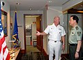 US Navy 080708-N-5476H-006 Adm. Robert F. Willard welcomes China's Lt. Gen. Zhang Qingsheng to COMPACFLT headquarters.jpg