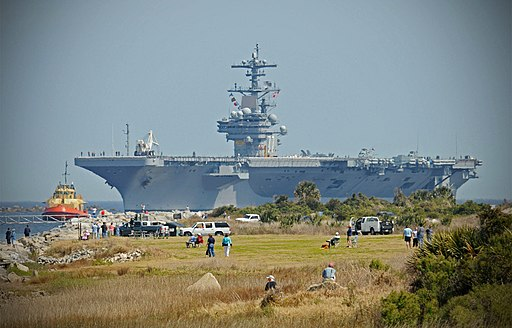 US Navy 100310-N-8590G-001 The aircraft carrier USS George H.W. Bush (CVN 77) approaches Naval Station Mayport for its maiden port call