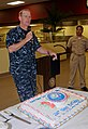 US Navy 111013-N-SH505-036 Capt. Yancy B. Lindsey, commanding officer of Naval Base Coronado, speaks at the galley on Naval Amphibious Base San Die.jpg