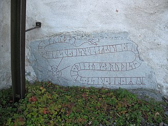 Housecarl - The runestone U 335 at Orkesta commemorates the housecarl of a local lord.