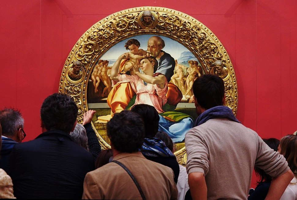 """Uffizi Gallery - Michelangelo painting """"Tondo Doni"""""""