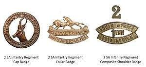 2nd SA Infantry Regiment - 2 SA Infantry Regiment Insignia
