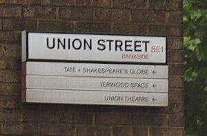 Union Street, London - Union Street road sign.