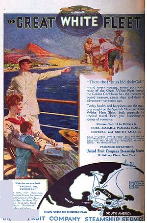 Banana boat (ship) - 1916 advertisement for the United Fruit Company Steamship Service