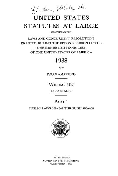File:United States Statutes at Large Volume 102 Part 1.djvu