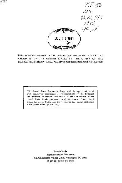 File:United States Statutes at Large Volume 102 Part 1.djvu