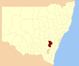 Upper Lachlan Shire - Location in New South Wales