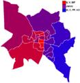 Upplands Väsby Kommunalval 2014 (Skala från rödgrönt till borgerligt).png