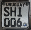 Uruguay motorcycle-license-plate-SHI006.png