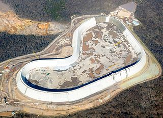 Taum Sauk Hydroelectric Power Station Dam in St. Francois Mountains, Missouri