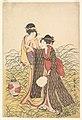 Utamaro (c. 1798–99) Musashino (right of 3, MET).jpg