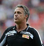 Uwe Neuhaus was coach with the longest tenure at 1. FC Union Berlin from 2007 to 2014.