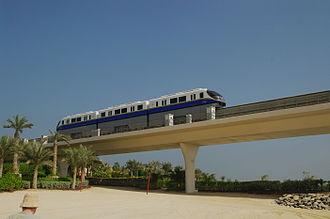 Rail transport in the United Arab Emirates - Palm Jumeirah Monorail in Dubai