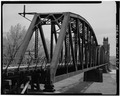 VIEW LOOKING SOUTHEAST, 3-4 ELEVATION - Snowden Bridge, Spanning Missouri River, Nohly, Richland County, MT HAER MONT,42-NOH.V,1-5.tif
