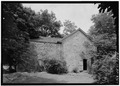 VIEW OF SOUTH SIDE - Old Jail, State Route 6A and Old Jail Lane, Barnstable, Barnstable County, MA HABS MASS,1-BAR,3-1.tif