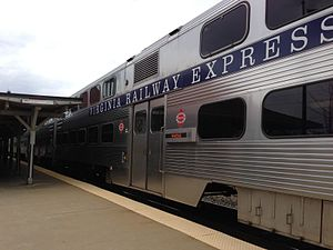 Virginia Railway Express - VRE7 Manassas Line Train