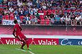 Valais Cup 2013 - OM-FC Porto 13-07-2013 - Brice Samba tirant un 6 mètres 2.jpg