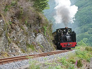 Locomotive No. 8 Llywelyn on the climb to Devil's Bridge