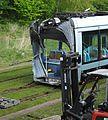 Valenciennes & Anzin - Déraillement de la rame de tramway n° 17 à la sortie du dépôt de Saint-Waast le 11 avril 2014 (006).JPG