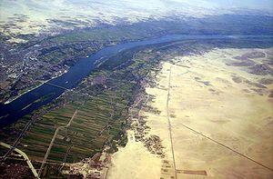 El río Nilo desde el aire