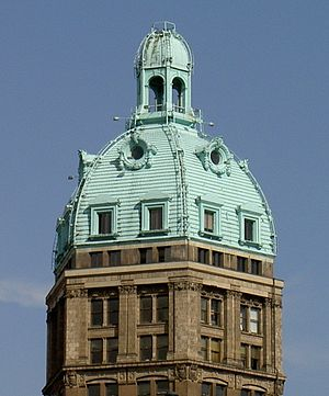 Sun Tower - Image: Vancouver Sun Tower Dome Detail