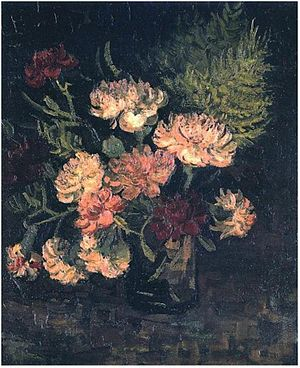 English: Vase with Carnations F243