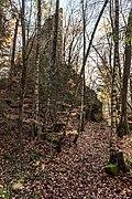 Velden am Wörther See Köstenberg Hohenwartweg Burgruine Hohenwart NO-Ansicht 08112018 5302.jpg
