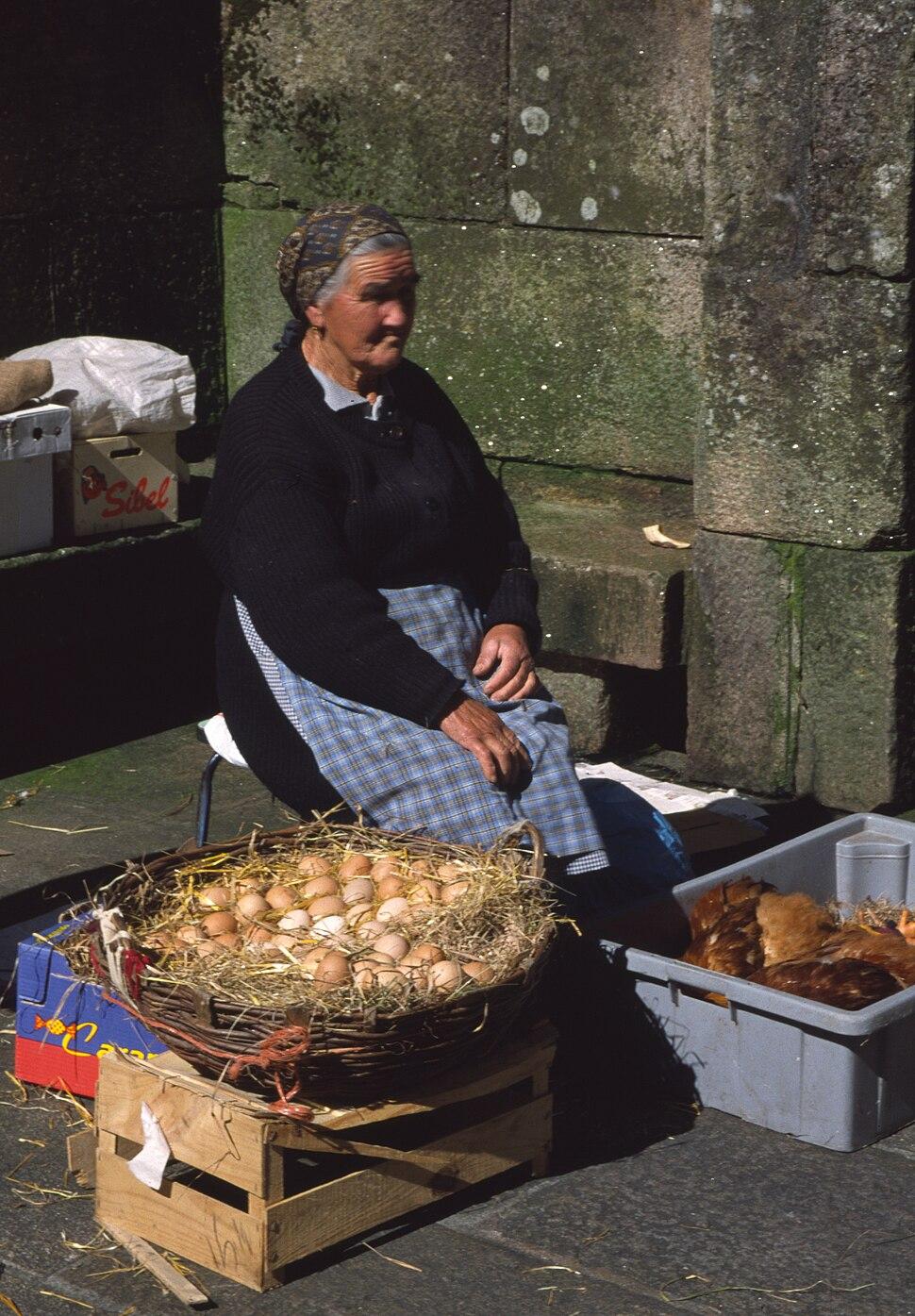 Vendedora de ovos, Santiago de Compostela