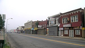 West Vernor–Junction Historic District - North side of Vernor at Junction, looking west