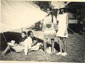 Veronica Rodrigues - Veronica in her school years with her classmates in Kenya