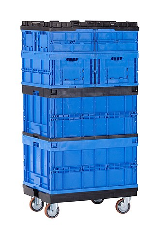 Plastic container - Stackable reusable plastic containers