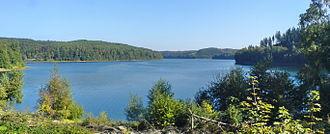 "Lüdenscheid - Versetalsperre (River ""Verse"" Reservoir) / The ""Verse"" is a Tributary of the Ruhr"