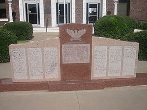 Mitchell County, Texas - Veterans Monument in Mitchell County