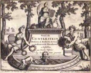 Gunterstein Castle - Image: Veues de Gunterstein titlepage Joseph Mulder