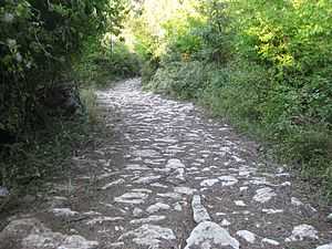 Via Egnatia - Remains of Via Egnatia near Radozda