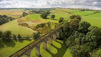 Westfield, West Lothian - The disused railway viaduct crosses the river Avon at Westfield