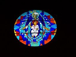Rosetón de la Abadía, sobre el altar mayor.