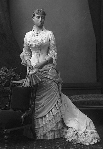 Princess Victoria of Hesse and by Rhine - Photograph by Alexander Bassano, c. 1878