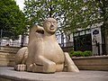 Victoria Square - Sphinx-like Guardian - near Christchurch Passage.JPG