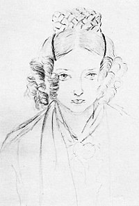 Victoria's sketch of herself