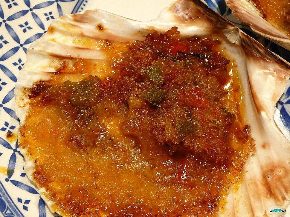 Vieira cociñada, Galiza