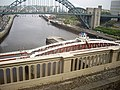 View downstream River Tyne from the High level Bridge (geograph 2402036).jpg
