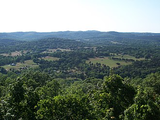 Carroll County, Arkansas - View from a scenic outlook on US 62 west of Eureka Springs.