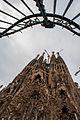 View of Nativity Façade of Basilica and Expiatory Church of the Holy Family (Basílica i Temple Expiatori de la Sagrada Família) ( UNESCO World Heritage Site). Barcelona, Catalonia, Spain-3.jpg