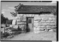 View of south side, west entrance - Guernsey State Park Museum, Highway 317, Guernsey, Platte County, WY HABS WYO,16-GUERN.V,1-5.tif