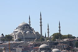 View of the Süleymaniye Mosque from the Bosphorus (1).jpg