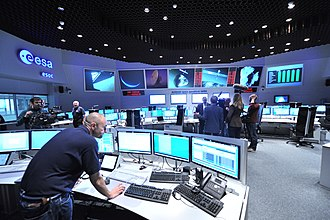European Space Operations Centre - Image: Views in the Main Control Room (12052189474)