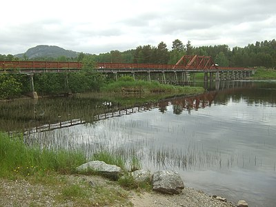 Vikbron över Ljungan vid Fränsta