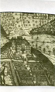 villa sciarra print of matteo greuter 1620 villa sciarra