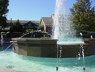 Lincolnshire, Illinois - The fountain at the Village Green plaza